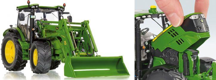 WIKING 077344 John Deere 6125R mit Frontlader Traktormodell 1:32