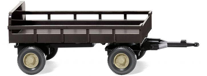 WIKING 086903 Landwirtschaftlicher Anhänger braun   Landwirtschaftsmodell 1:87