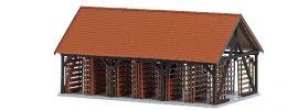 BUSCH 1551 Trockenschuppen der Ziegelei   Bausatz Spur H0 online kaufen