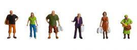 FALLER 153042 Beim Einkaufen | 6 Miniaturfiguren | Spur H0 online kaufen