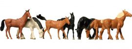 FALLER 154005 Pferde Warm + Kaltblutpferde | 7 Miniaturfiguren |  Spur H0 online kaufen