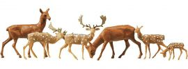 FALLER 154007 Damhirsche + Rotwild | 12 Miniaturfiguren Spur H0 online kaufen