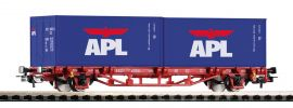 """PIKO 57759 Containertragwagen 2x20"""" APL DB Spur H0 online kaufen"""