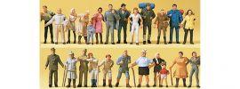 Preiser 14413 Spaziergänger | Wanderer | 24 Miniaturfiguren | Spur H0 online kaufen