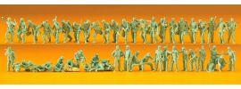 Preiser 16506 Bundeswehr Soldaten | 50 unbemalte Miniaturfiguren Spur H0  online kaufen