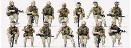 Preiser 16564 US-Army Soldaten | 14 unbemalte Miniaturfiguren Spur H0 online kaufen