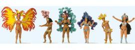 Preiser 24625 Samba-Tanzgruppe | 6 Miniaturfiguren  | Spur H0 online kaufen