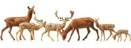 FALLER 154007 Damhirsche + Rotwild | 12 Miniaturfiguren Spur H0 kaufen