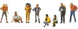 FALLER 155319 Wanderer | 8 Miniaturfiguren | Spur N kaufen