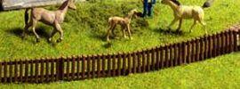 NOCH 13080 Gartenzaun ca. 97cm, 18 Teile Spur H0