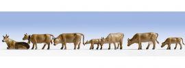 NOCH 15722 Kühe dunkelbraun 7 Stück  Spur H0 kaufen
