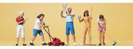 Preiser 10464 Hobbygärtner   5 Miniaturfiguren   Spur H0 kaufen