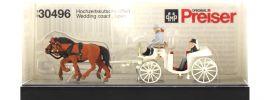 Preiser 30496 Hochzeitskutsche + Kutsscher + Brautpaar | Miniaturfiguren H0 kaufen