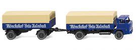 WIKING 041701 Henschel Pritschenhängerzug | Mönchshof-Bräu | LKW-Modell 1:87 kaufen