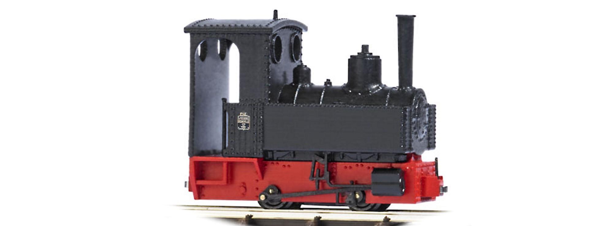 Spur H0f Feldbahn Busch 12140 Dampflok Decauville Typ 3 schwarz