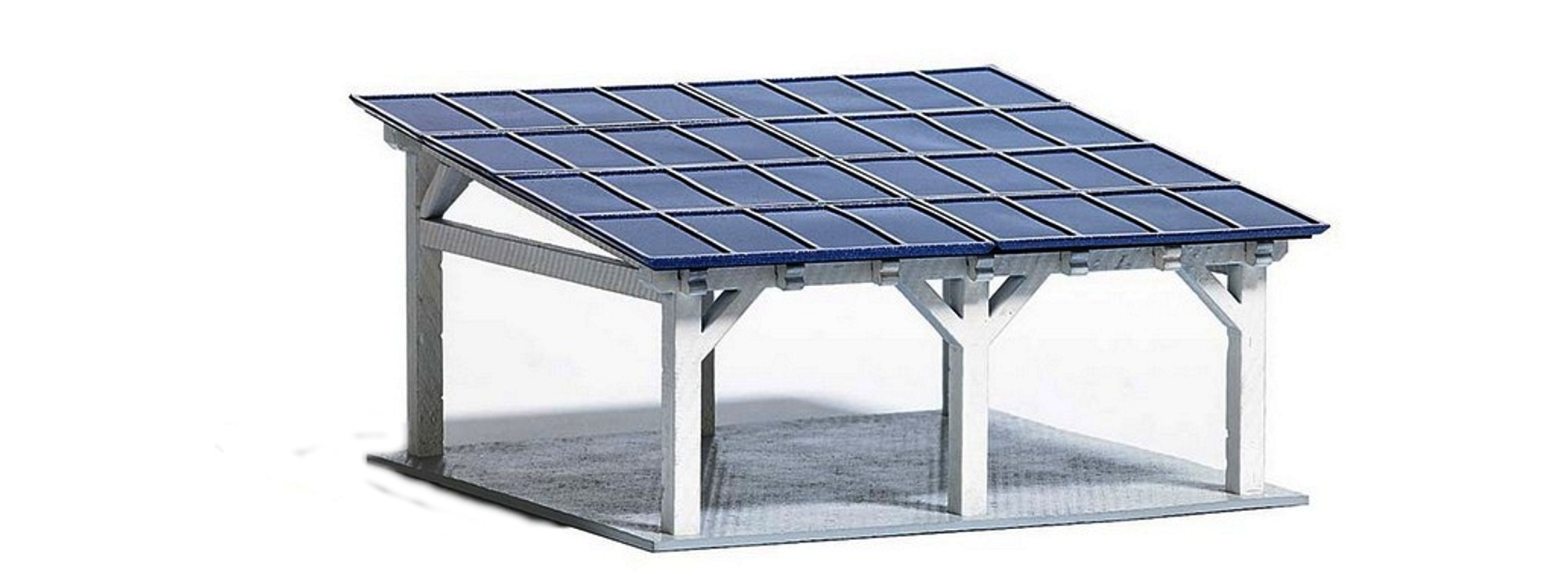 busch 1572 moderner solarcarport bausatz spur h0 online. Black Bedroom Furniture Sets. Home Design Ideas