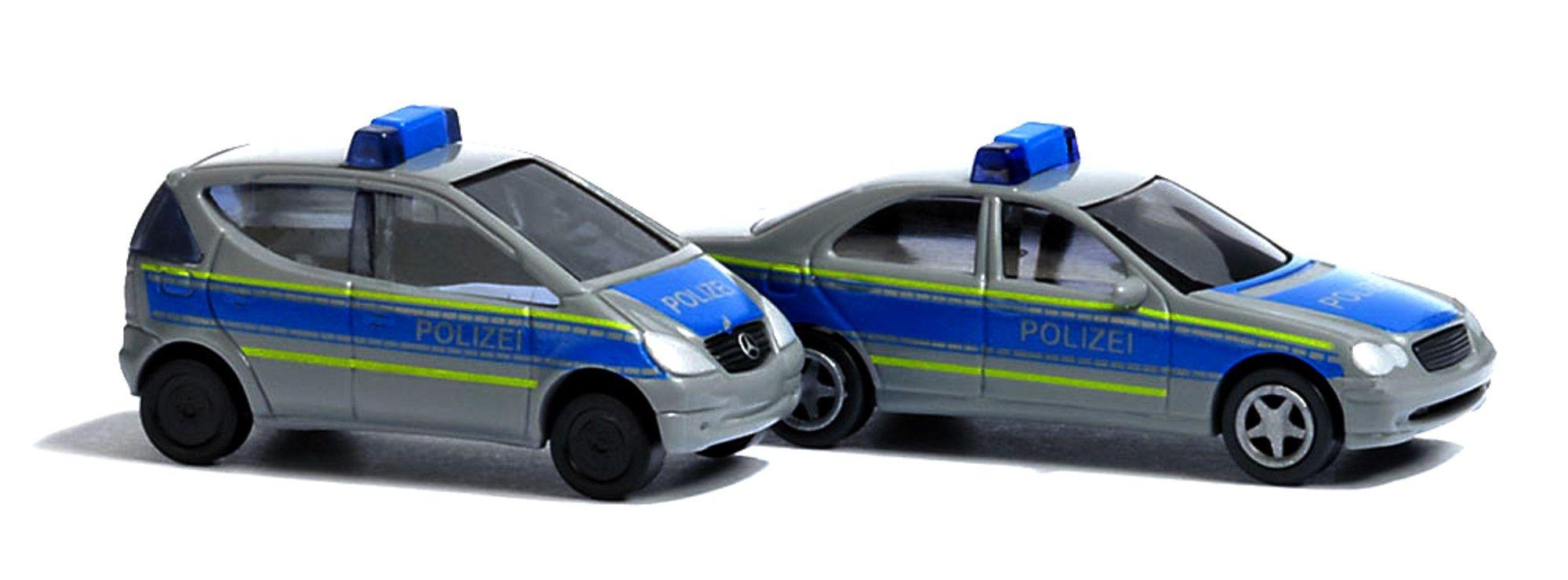 Busch 5623 Smart Fortwo Polizei weiß//blau m Blaulichtbalken Spur H0 Neu//OVP