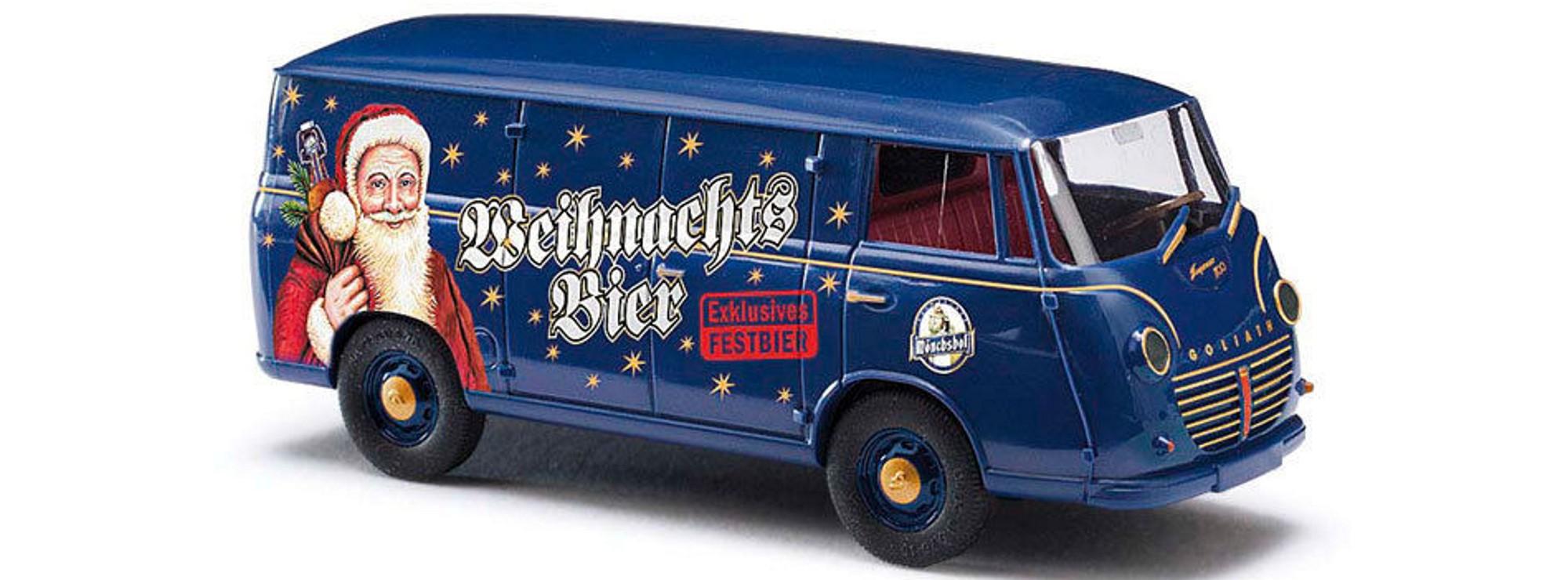 """Busch//DREIKA 1//87 94023 goliat Express /""""Kulmbacher mönchshof-weihnachtsbier/"""""""