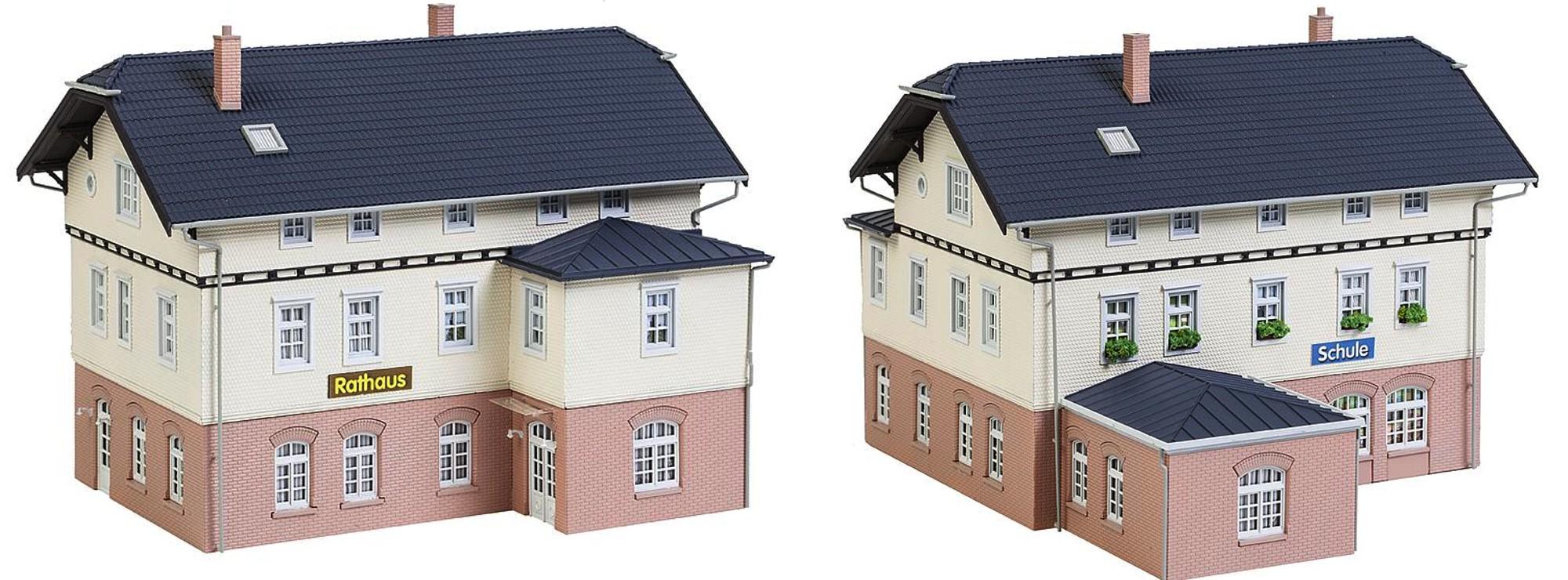 Faller 130457 Rathaus mit Schule