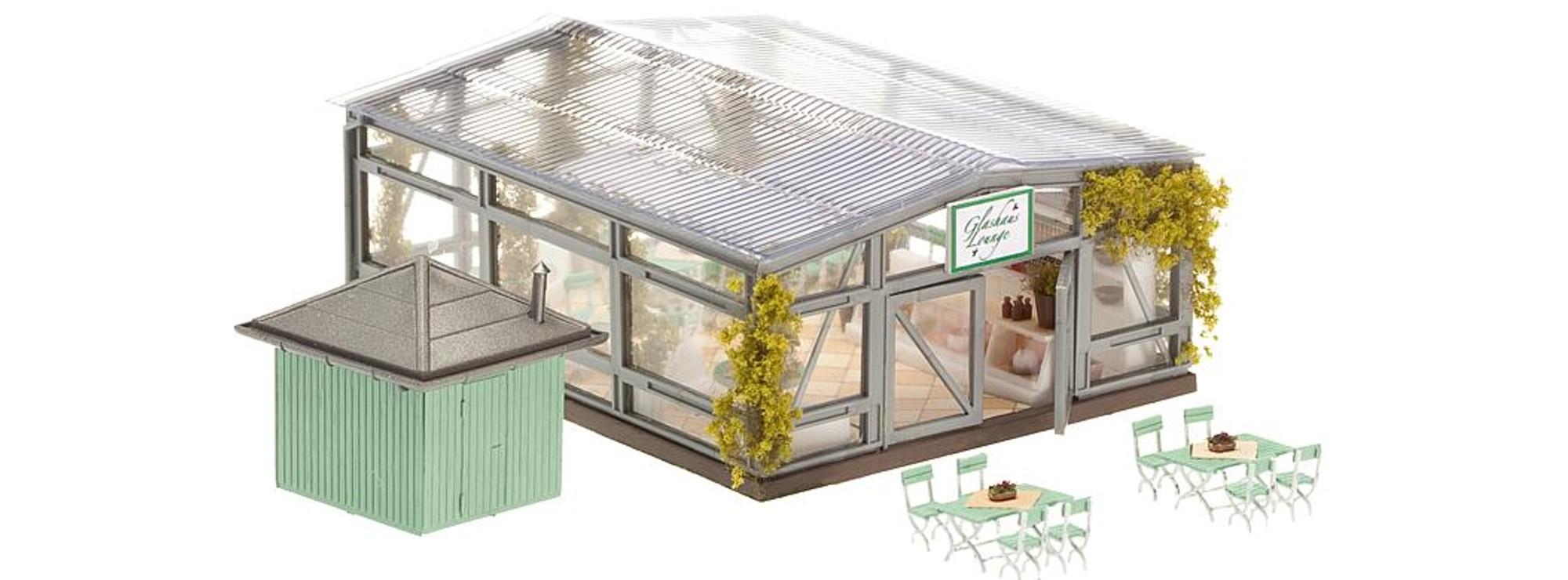 Ausverkauft Faller 130509 Bistro Wintergarten Bausatz Spur H0