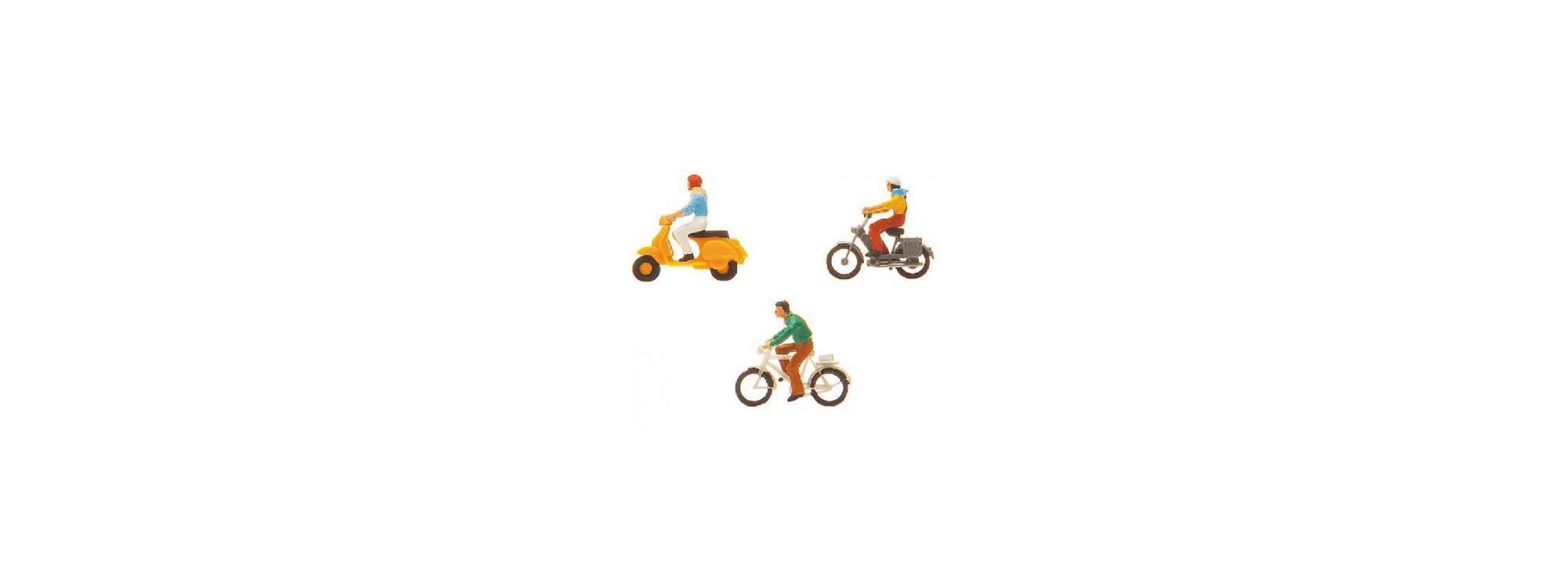 Faller 151079 H0 Fahrrad und Mopedfahrer