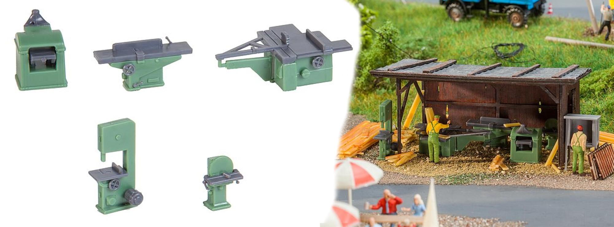 NEU in OVP Faller 180961 Holzbearbeitungsmaschinen