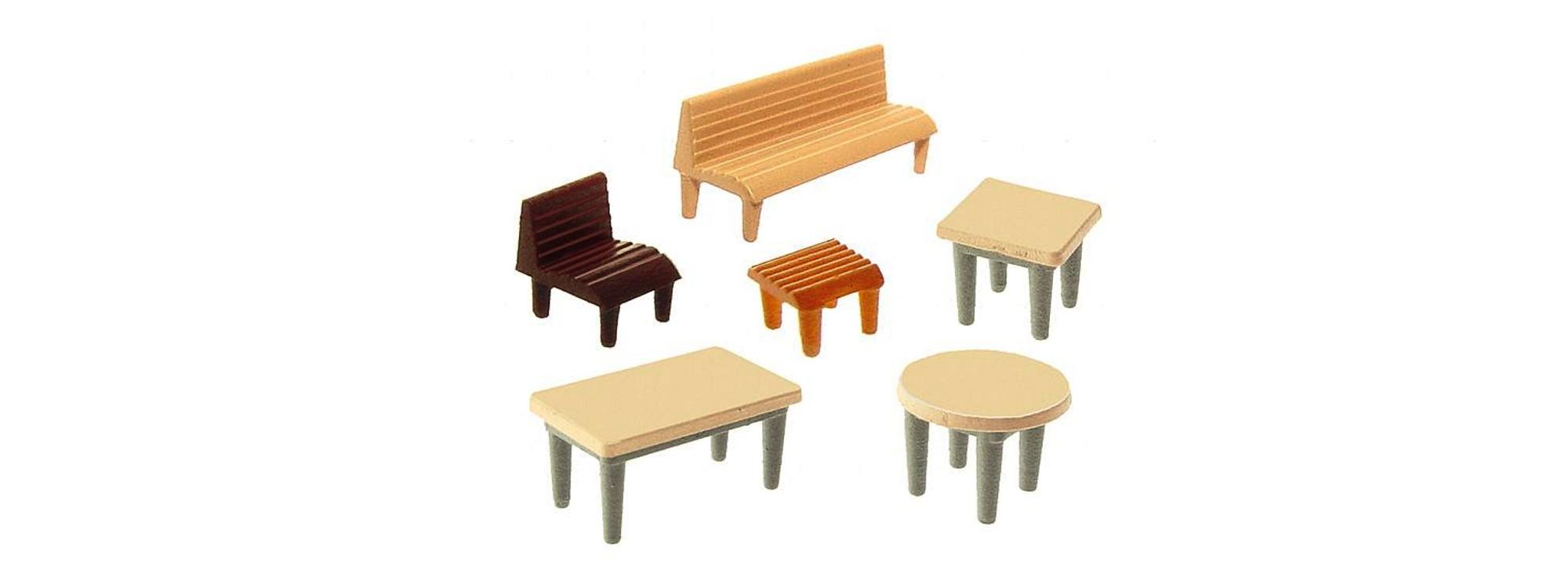 Faller 272440 Tische Stühle Bänke Spur N Online Kaufen Bei