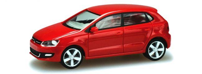HERPA Sammlermodell H0, 1:87 NEUWARE - VW Polo rot // Facelift