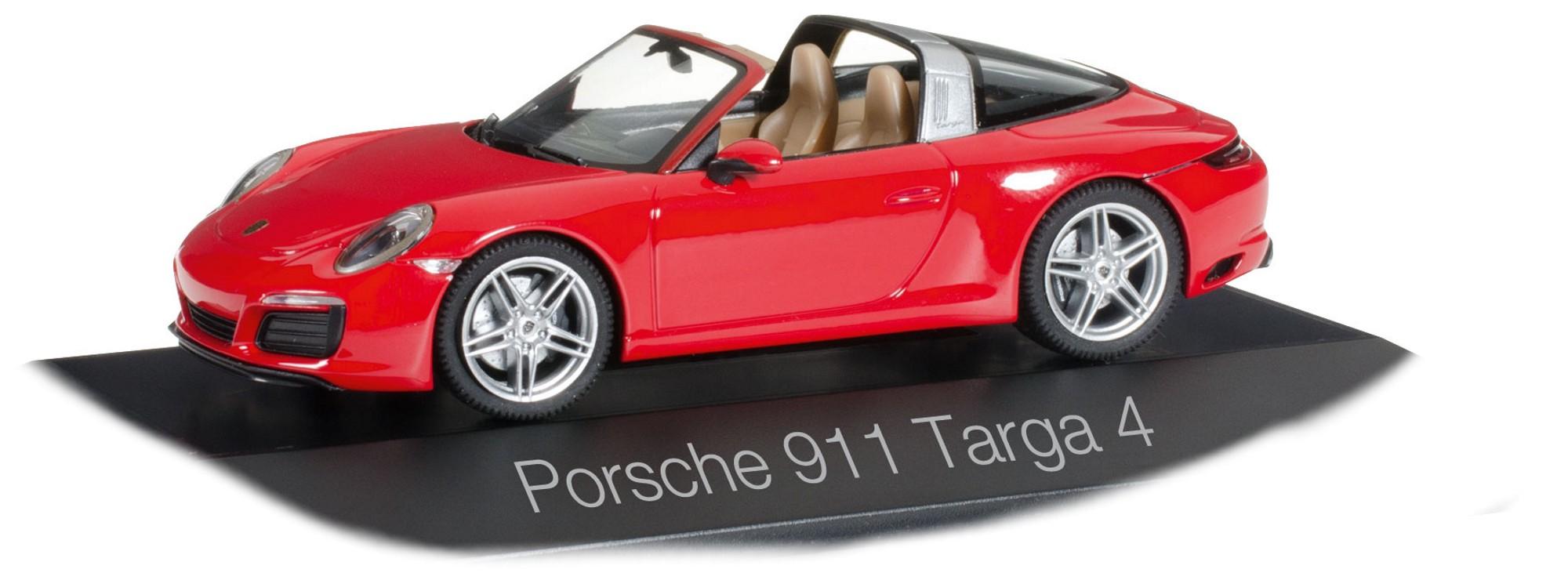 Herpa 071147  Porsche 911 Targa 4 indischrot Sportwagen Scale 1 43