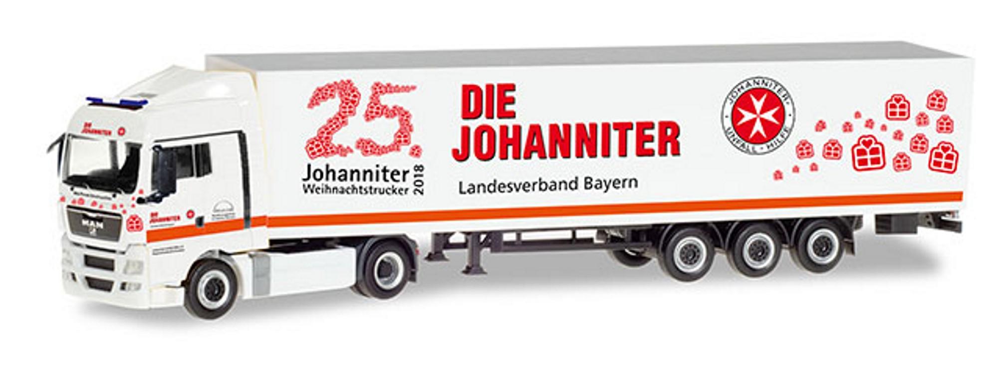 Herpa 309851 Man Tgx Xlx Koffersattelzug Johanniter Bayern
