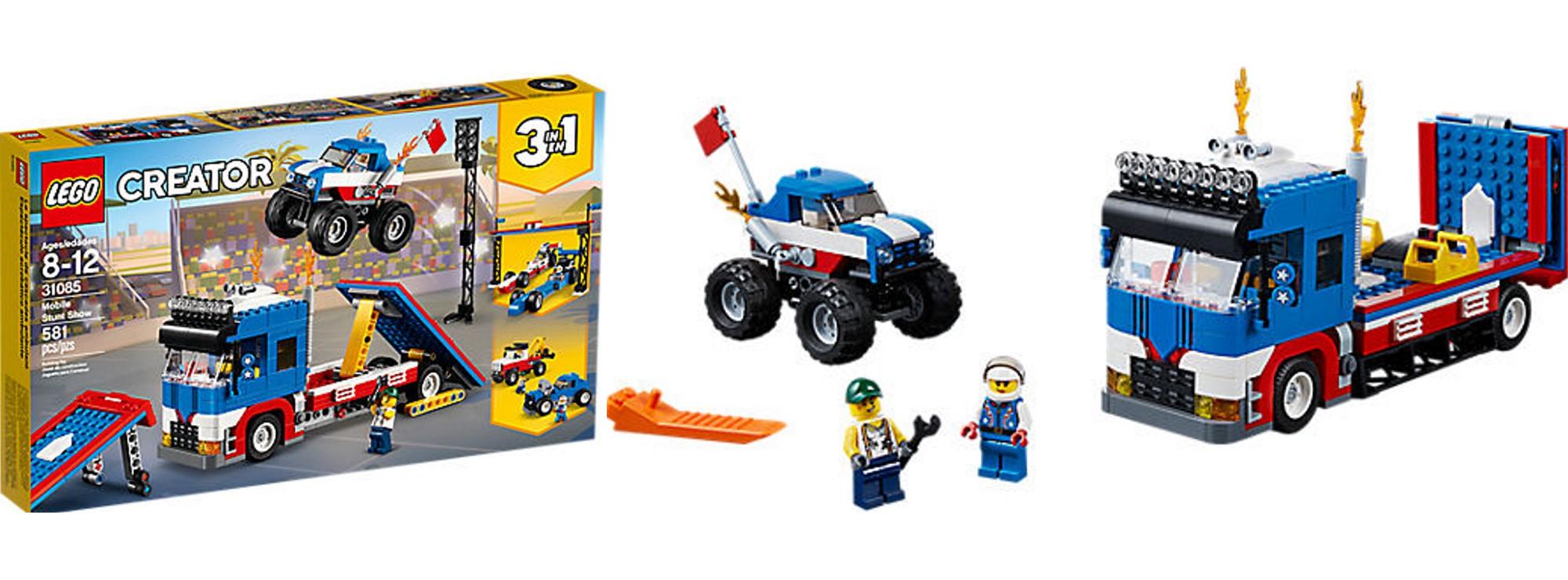 Baukästen & Konstruktion LEGO Creator Stunt-Truck-Transporter 31085 LEGO Bausteine & Bauzubehör