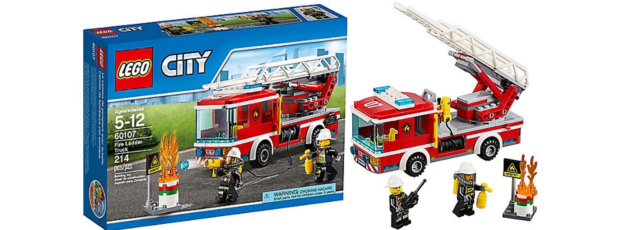 Feuerwehrfahrzeug mit fahrbarer Leiter LEGO® City Set 60107