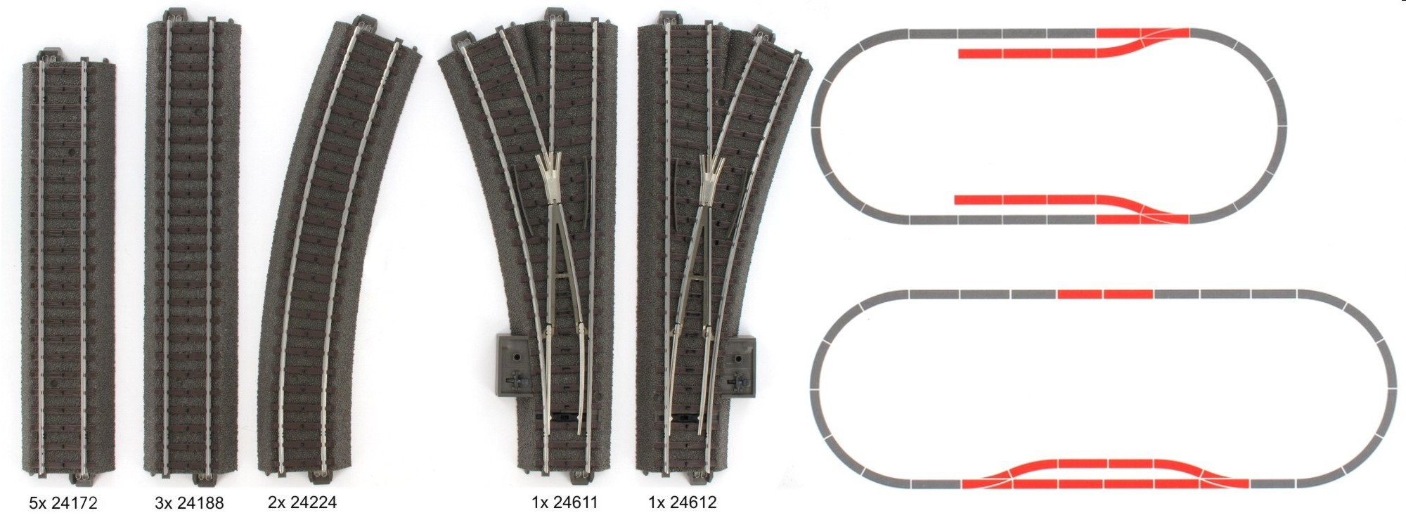 Märklin 24802 Digitale C-Gleis-Ergänzungspackung D2 Spur H0
