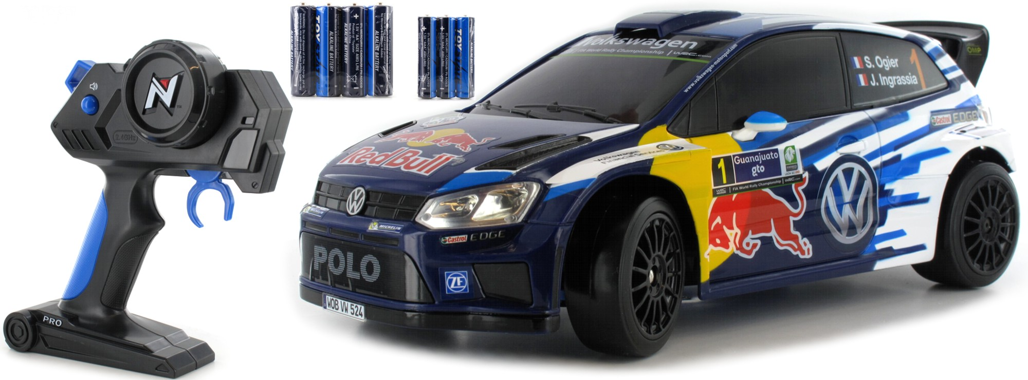 Nikko 36947 Vw Polo Wrc Rallye Red Bull Rc Auto Rtr 2 4 Ghz 1