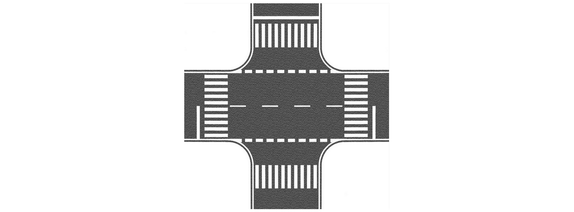 картинка перекресток с пешеходным переходом они сочетают элементы