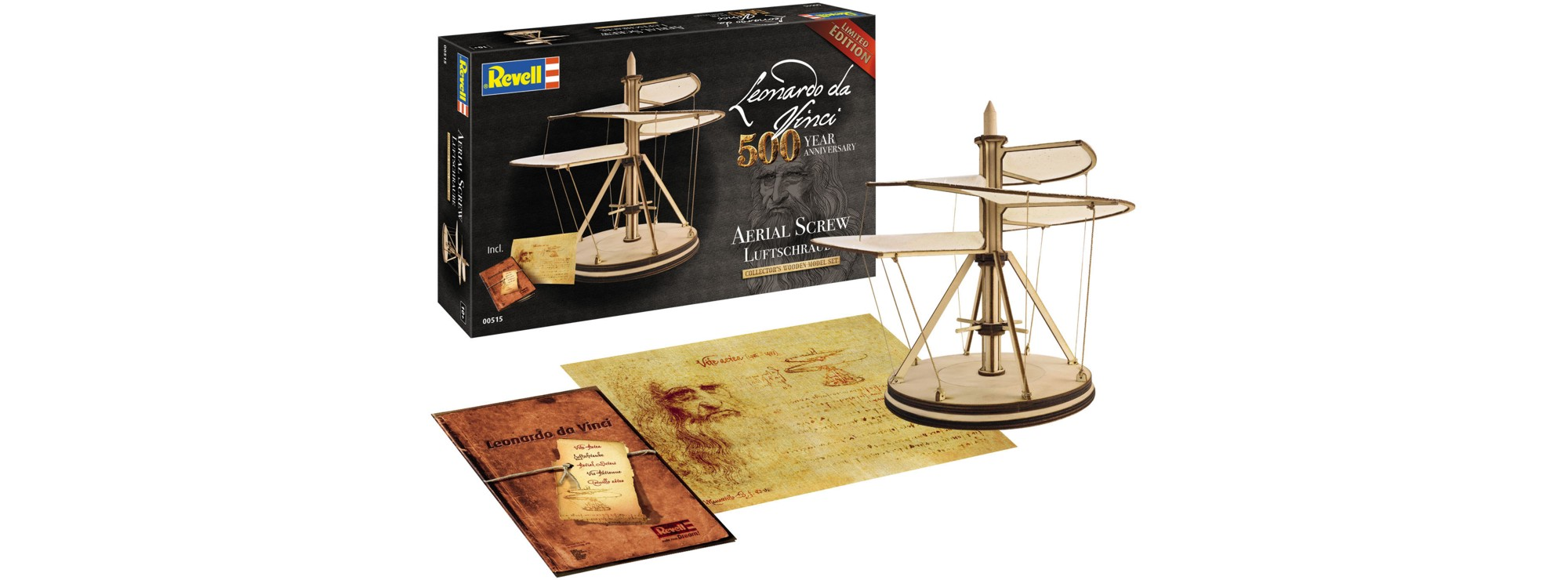 Revell Leonardo da Vinci Luftschraube Holzbausatz 1:48 00515   .