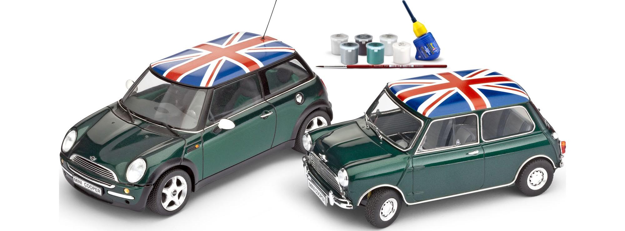 ausverkauft revell 05795 geschenkset mini cooper alt neu auto bausatz 1 24 online kaufen. Black Bedroom Furniture Sets. Home Design Ideas