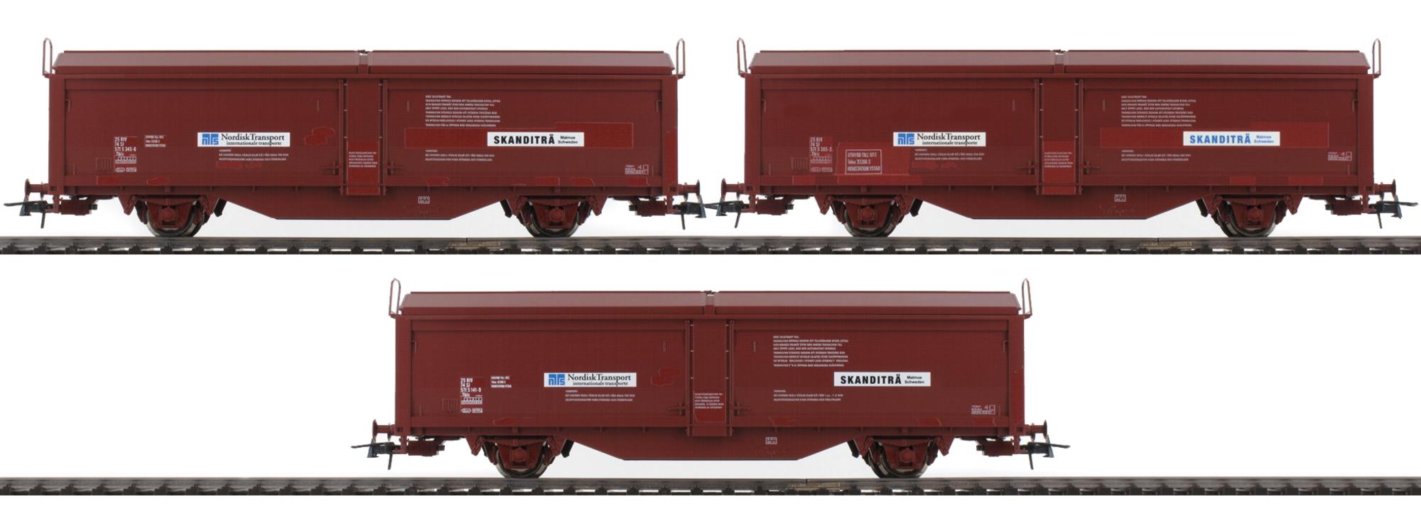 SJ H0 ROCO 76169 Schiebewandwagen-Set 3-tlg