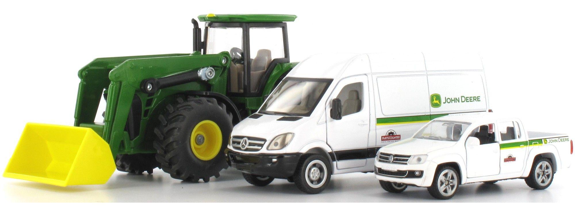John Deere Baukasten Service Fahrzeug Spielzeugautos