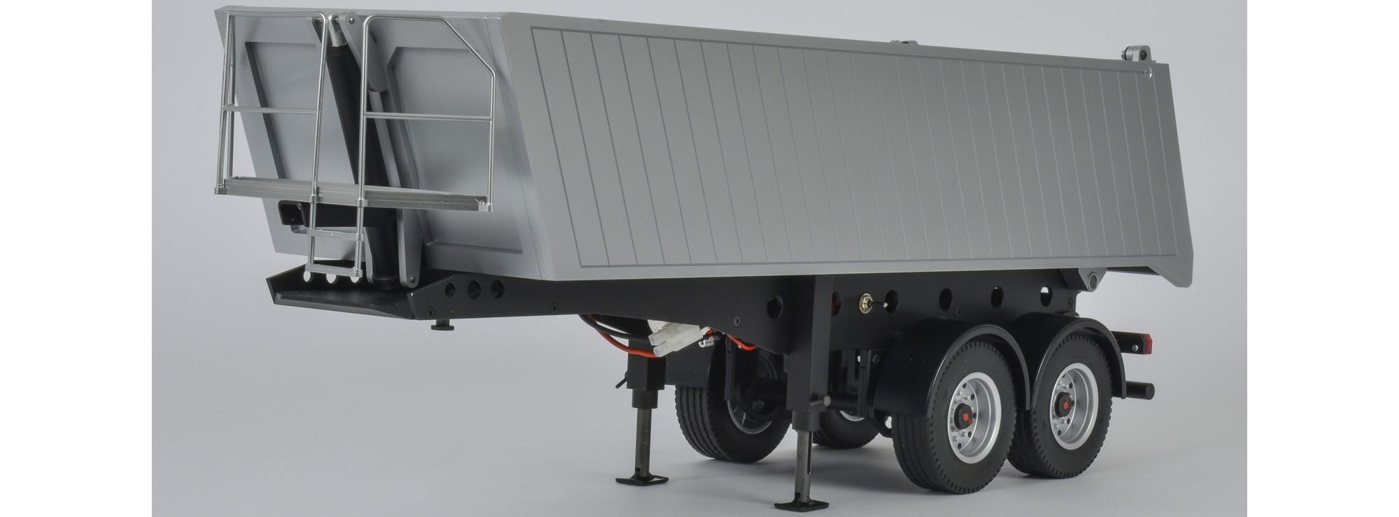Super CARSON 500907312 2-Achs Muldenkipper Sattelauflieger   RC LKW &ZJ_48