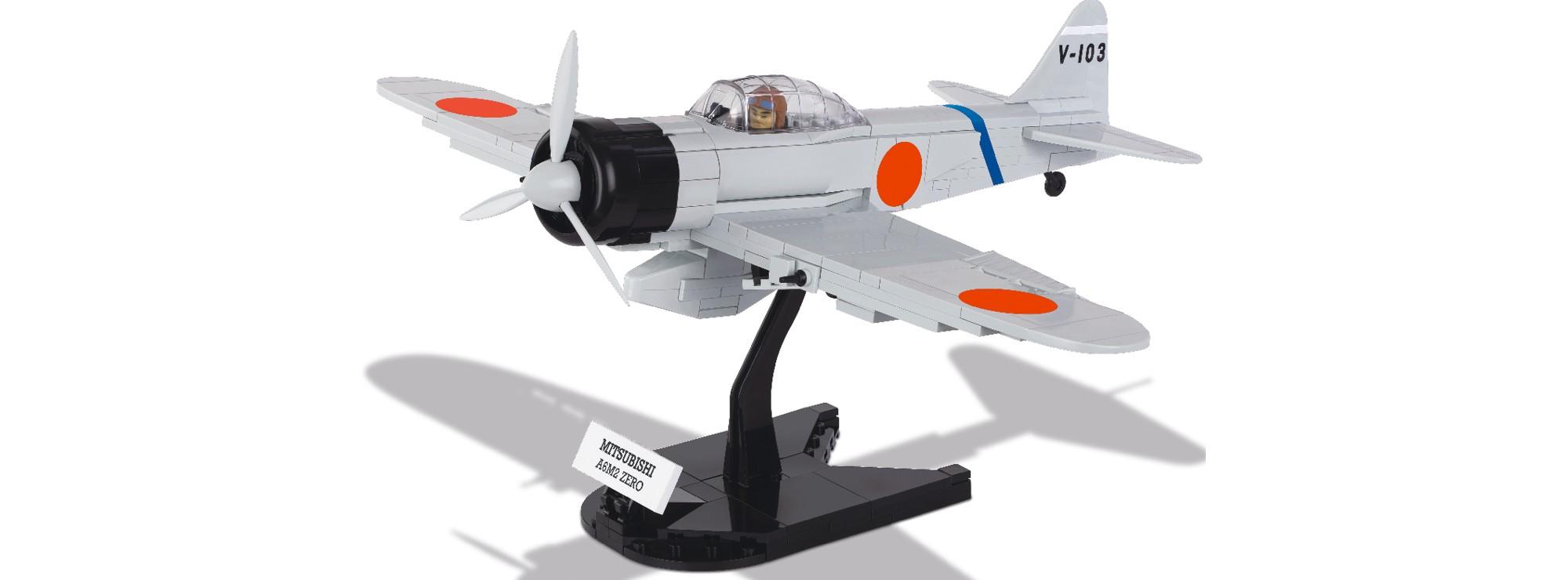 cobi 5515 mitsubishi a6m2 zero   flugzeug baukasten   online kaufen