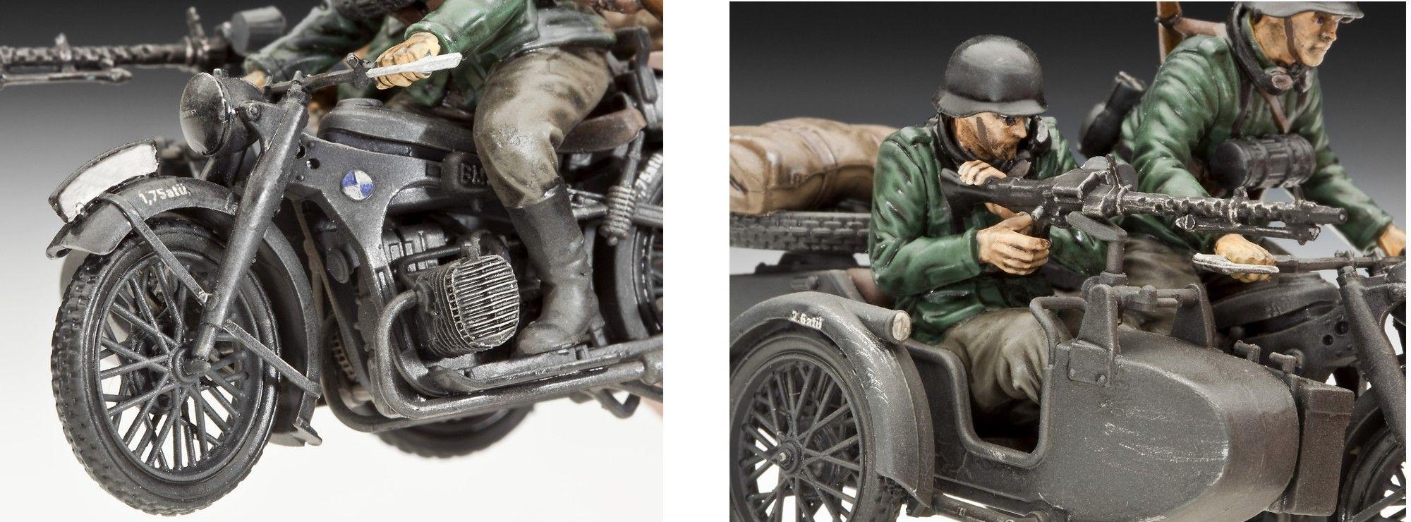 ausverkauft revell 03090 motorrad mit beiwagen r 12. Black Bedroom Furniture Sets. Home Design Ideas