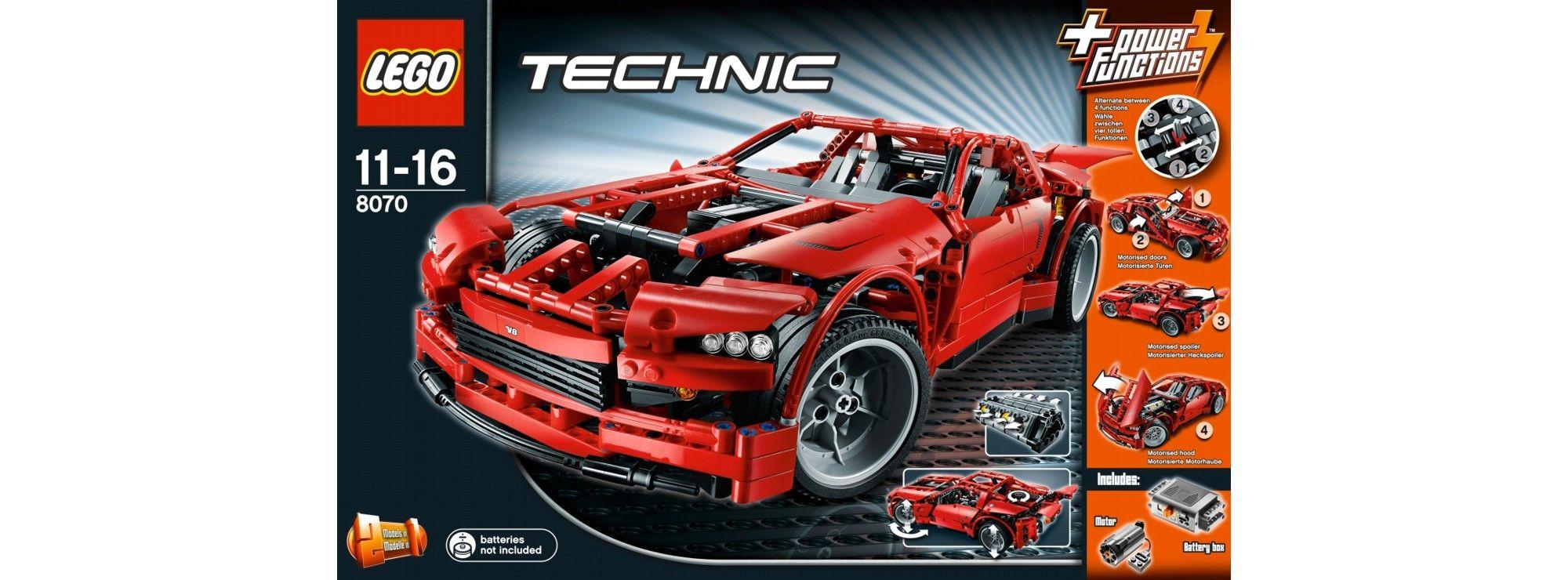 ausverkauft lego 8070 super car v8 lego technik online. Black Bedroom Furniture Sets. Home Design Ideas
